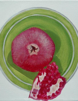 Pomegranate Planet painting