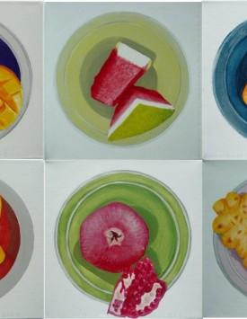 Seed Series II – Summer Fruit paintings